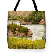 Five Finger Rapids Of Yukon River Yukon T Canada Tote Bag