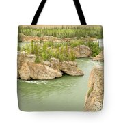 Five Finger Rapids Rocks Yukon River Yt Canada Tote Bag