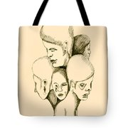 Five Headed Figure Tote Bag