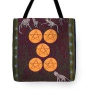 Five Of Pentacles Tote Bag