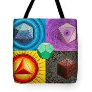 Five Platonic Solids - Fire Tote Bag