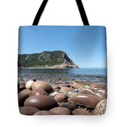 five steps to paradise - Giant pebbles is Menorca north shore close to Cala Pilar beach Tote Bag
