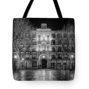 Five Till Seven In Black And White Tote Bag