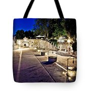Five Well Square In Zadar Evening View Tote Bag