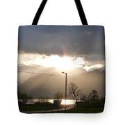 Fjord Sunset Tote Bag