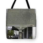 Fl-1020 Site Of First Ybor City Railroad Station 1887 Tote Bag