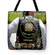 Fla Post 4143 Vfw Rider Color Usa Tote Bag