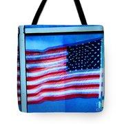 Flag Abstract Reflection Tote Bag