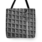 Flag And Windows In Black And White Tote Bag