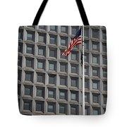 Flag And Windows Tote Bag