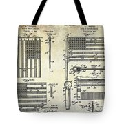 1927 Flag Spreader Patent Drawing Tote Bag