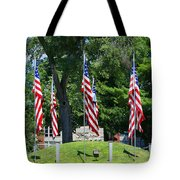 Flag - Illinois Veterans Home - Luther Fine Art Tote Bag