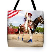 Flag Lady Tote Bag