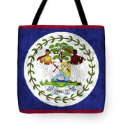 Flag Of Belize Tote Bag