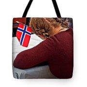 Flag Of Norway In Girls' Braided Hair Art Prints Tote Bag