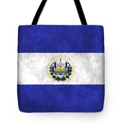 Flag Of Salvador Tote Bag