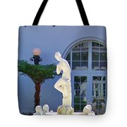 Reflection Of A Courtyard Tote Bag