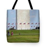 Flags Around Washington Tote Bag