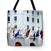 Flags At The Greenbrier Tote Bag