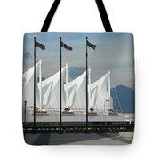 Flags At The Sails  Tote Bag
