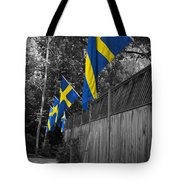 Flags Of Sweden Tote Bag