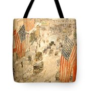Flags On 57th Street Tote Bag