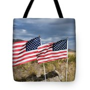 Flags On Antelope Island Tote Bag