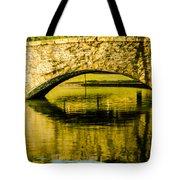 flagstone walking bridge at Freedom Park in Charlotte North Car Tote Bag