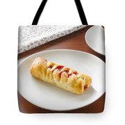 Flaky Pastry With Cherry Jam Tote Bag