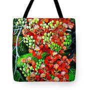 Flamboyant In Bloom Tote Bag by Karin  Dawn Kelshall- Best