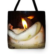 Flame Candle Art Tote Bag