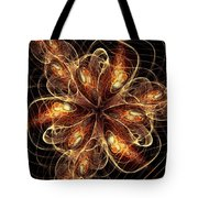 Flame Flower Tote Bag
