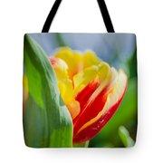 Flame Leaf Tulip Tote Bag
