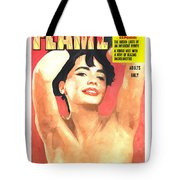 Flame - Vintage Magazines Covers Series Tote Bag