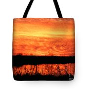 Flamed Sunset Tote Bag