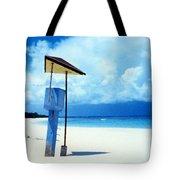 Flamenco Beach And Storm Tote Bag