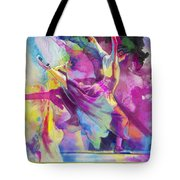 Flamenco Dancer Tote Bag by Catf