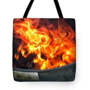Flames 03 From The Firemen Series Tote Bag
