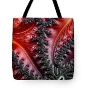 Flames - A Fractal Abstract Tote Bag