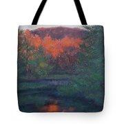 Flames Of Fall At Catfish Corner Tote Bag