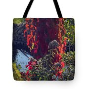 Flaming Beauty Tote Bag