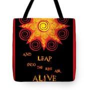 Flaming Celtic Sun Tote Bag