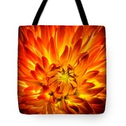 Flaming Dahlia - Paintography Tote Bag