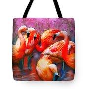 Flaming Flamingos Tote Bag