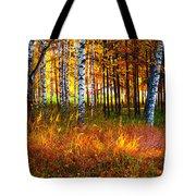 Flaming Grass Tote Bag