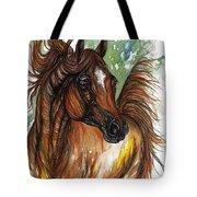 Flaming Horse Tote Bag