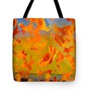 Flaming Indian Girl Sunset Tote Bag
