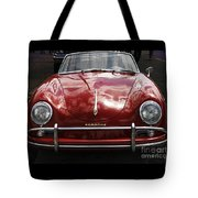 Flaming Red Porsche Tote Bag