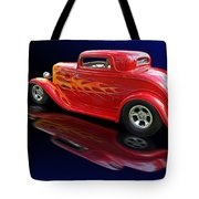 Flaming Roadster Tote Bag by Gill Billington