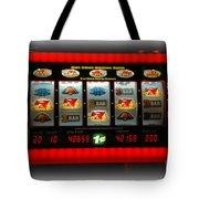 Flaming Sevens Slots Tote Bag